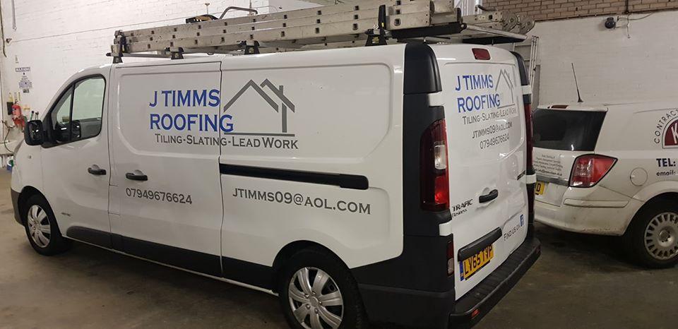 J Timms Roofing Van